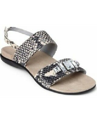 e41634f001c6 Vionic Orthaheel Dupre Open Toe Sandals Natural Snake Size 8 M