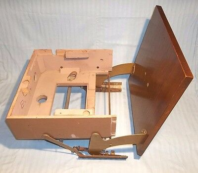 Vintage 1950 spring loaded pull-out cabinet from Admiral TV/radio/phono console