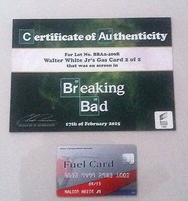BREAKING BAD screen-used prop w/ Sony COA ! Walter White Jr's Gas Card ! #2 of 2