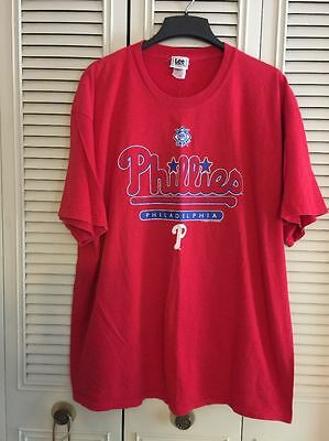 e98aea855 Vintage Philadelphia Phillies T-shirt Shirt Men s Size 2XL XXL Red Lee Sport