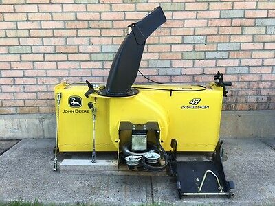 John Deere Snowblower 47-Inch (SKU23047) Year 2011 + 42 lb Weights + Tire Chain