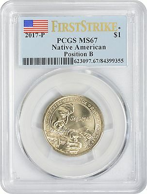 2017-P Sacagawea Dollar MS67 PCGS First Strike Mint State 67 Position B