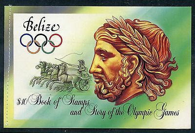 Weeda Belize 722a-725a Complete VF 1984 Summer Olympics $10 booklet CV $16+