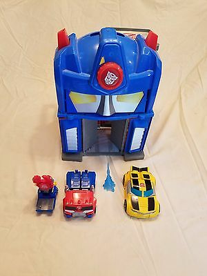 Hasbro Transformers Rescue Bots Playskool Heroes Fire Station Prime Playset