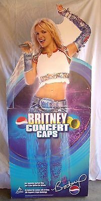 Britney Spears Life Size 6' Tall Concert Caps Pepsi Stand Up Belly Ring Standee