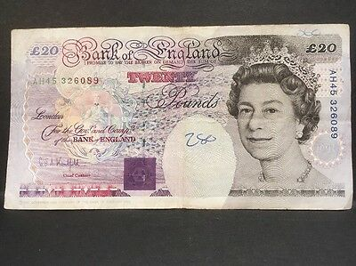 Withdrawn (1993) English 20 Pound Note-Michael Faraday-Out of Circulation
