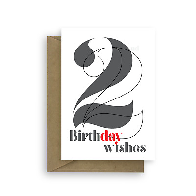 22nd Birthday Wishes Card For Her Or Him 22 Girl Boy Man Woman