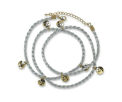 ZUMBA Fitness Zumbito soft rubber cord wrap bracelet with golden logo charms NEW