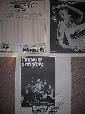 3 Lot Vintage Aerosmith Album Live Concert Pinup Poster Rocks Toys In The Attic