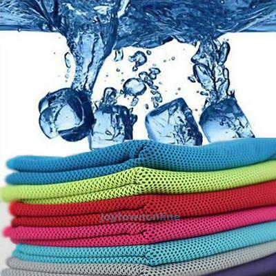 Instant Ice Cooling Towel Reusable Cool Fitness for Sports Jogging Gym Running