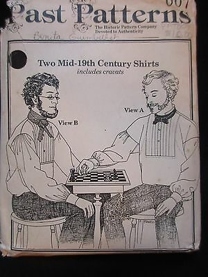 Men's Mid-19Th Century Shirt Sewing Civil War *past Patterns* Size 34-50 Chest