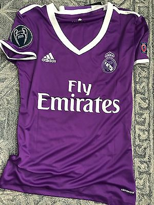 Real Madrid Cardiff Final Women's Soccer Jersey Champions League Ronaldo Bale