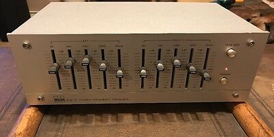 """Vintage  """"BSR EQ-1 Stereo Frequency Equalizer""""  Great Shape"""