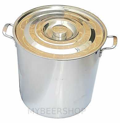 50L Commercial Stock Pot With Lid Stainless Steel Sauce Home Brew Beer Curry