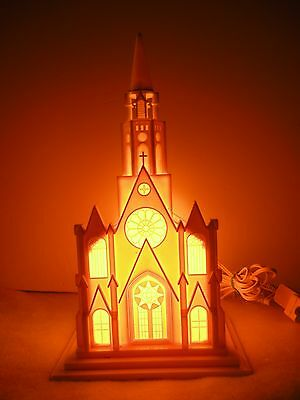 Vintage Christmas  Lights - Paramount Illuminated Musical Cathedral