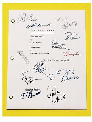 The Outsiders Signed Script Rpt C. Thomas Howell, Patrick Swayze, Matt Dillon