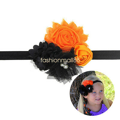 Baby Girl Halloween Flower Headband Fright Night Kids Hair Band Hair Accessories
