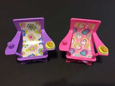 Lot Fisher-Price LOVING FAMILY Dollhouse Furniture Camping Chairs Pink Purple