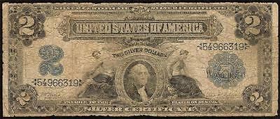 LARGE 1899 $2 TWO DOLLAR BILL BIG SILVER CERTIFICATE CURRENCY NOTE MONEY Fr 249