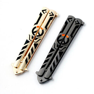 Sheath Balisong Butterfly Knife Trainer Training Practice Folding Pocket Tool