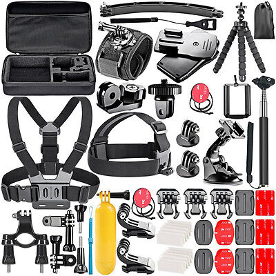 Action Camera Accessory Kit for GoPro Hero Session 7 6 5 4 3+ 3 /Xiaomi yi/EKEN