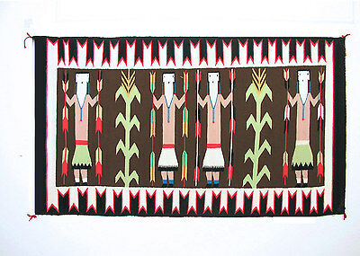 Navajo Yei Rug, 53 By 31 In,  Tapestry Quality, Superb Condition