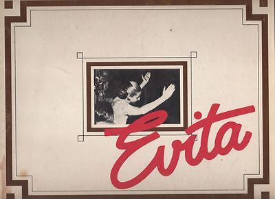 """Evita""   Souvenir Program   1981   National Tour  Florence Lacey"