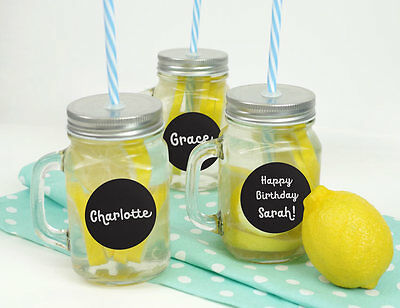 24ct Bright Star Kids Chalkboard Label Stickers for Mason Jars - Large Round