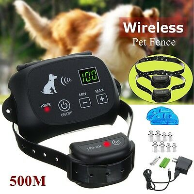 Drahtlose Haustier Hunde Zaun System Electric Pet 2 Dog Fence Rechargeable