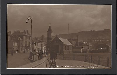 Postcard JUDGES No 86  HASTINGS  LIFEBOAT HOUSE  NEAR MINT