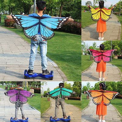 New 1Pcs Cute Butterfly Wings Design Kids Chiffon Scarf Wrap Shawl Costume Decor