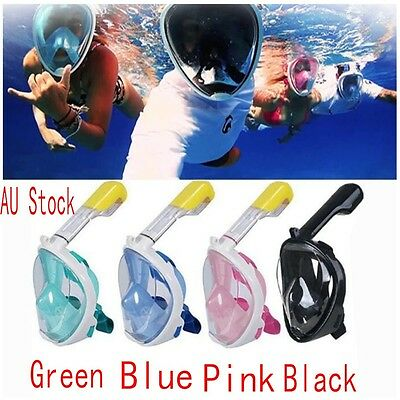 AU Full Face Snorkeling Snorkel Mask Diving Goggles Breather Pipe Tool For GoPro