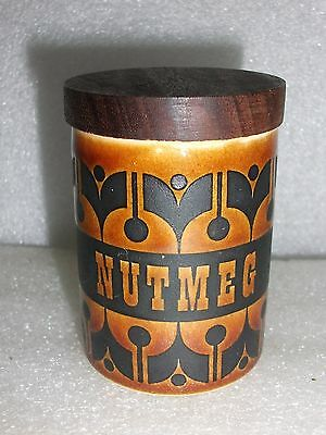 Vintage Hornsea Heirloom Nutmeg Spice Jar with Tight Stopper - 3""