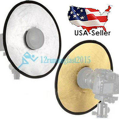 30cm 2 in 1 Collapsible Light Round Photography Hollow Reflector for Studio USA