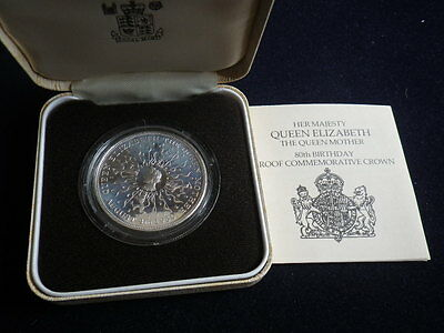 Great Britain 1980 Silver Proof Crown In Case & with Certificate