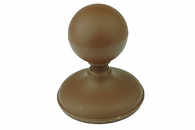 """Linic 6 x Dark Brown Sphere Fence Top Finials + 4"""" 100mm Round Post Caps GT0022"""