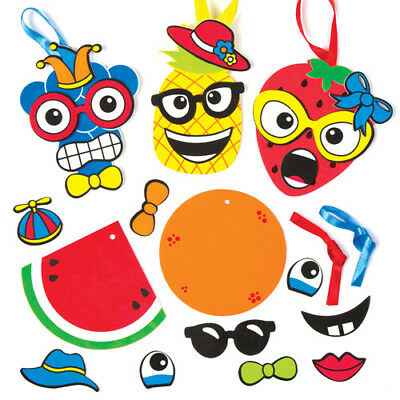 8 Funky Fruit Mix&Match Magnet Kits for Children to Make Creative Kids Craft Set