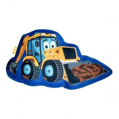 JCB Fun In The Mud Shaped Cushion OFFICIAL Kids Pillow Bedding Bedroom NEW GIFTS