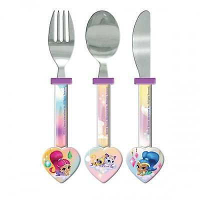 Shimmer and Shine Heart Cutlery Set - Kids OFFICIAL Girls Kitchen - NEW GIFTS