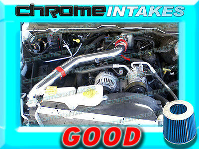 2002 2003 2004 2005-2007 DODGE RAM 1500 3.7L V6 FULL COLD AIR INTAKE Red STAGE 3