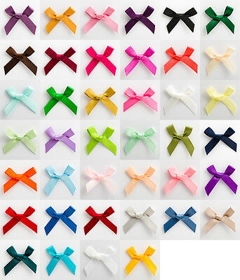 Satin Ribbon 6mm Bows 3cm Wide - Packs of 10 20 50 100 Crafts Wedding Invitation