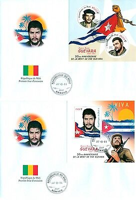 Che Guevara Mali FDC first day cover set 2 covers