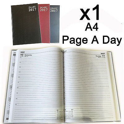 2017 Diary A4 A5 hard back Page A Day Week to View schol office appointment plan