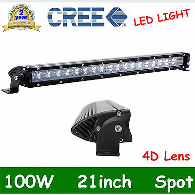 100W SPOT 20/21INCH Single Row CREE LED OFFROAD Light Bar UTE 4D OPTICALS FDEA