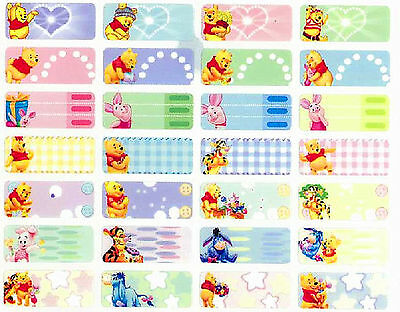 200 stickers - DIY  mini size personalised name sticker - Pooh and his friends