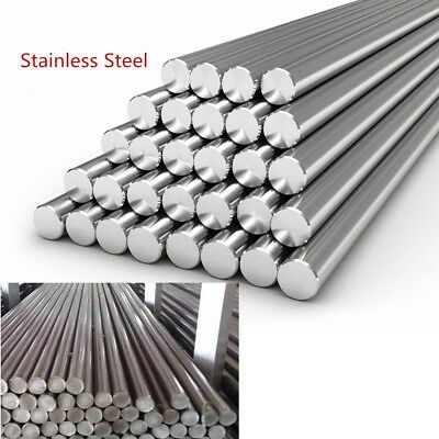 Stainless Steel 303 201 Round Solid Metal Bar Rod Dia 3-14mm Length 125mm-500mm
