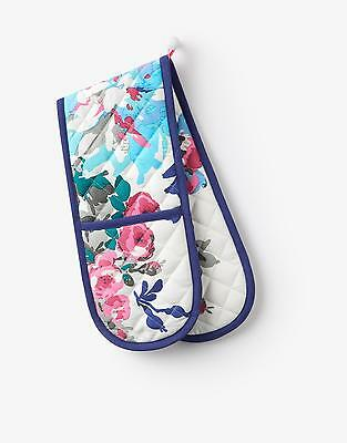 Joules Dorrit Double Oven Gloves in Cream Floral in One Size