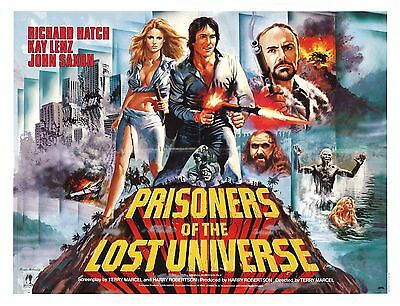 Prisoners of the Lost Universe 1983 British Quad Movie Poster TOM CHANTRELL