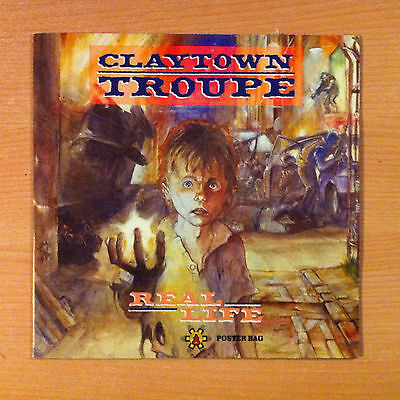 "CLAYTOWN TROUPE  "" Real Life "" - Vinyl  12""  Poster Sleeve -  12IS446  - 1990 UK"