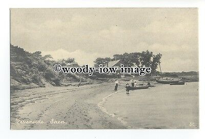 tq1443 - Suffolk - Early View of Row Boats on the Riverside, at Iken - postcard